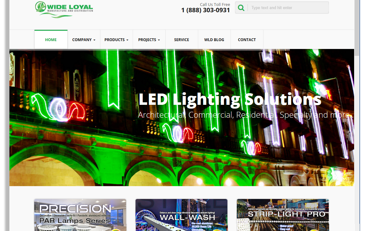Wide Loyal Launches New Website for LED lighting Solutions