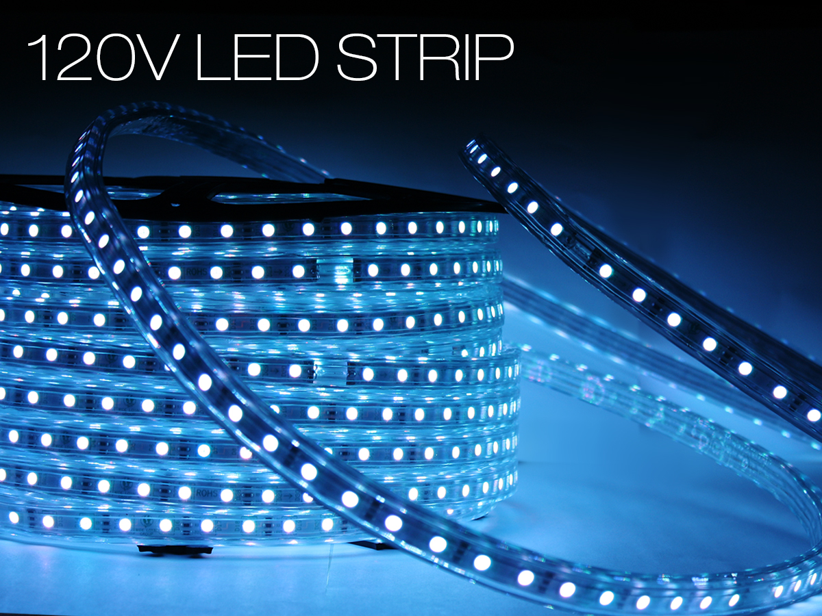 120v led strip. Black Bedroom Furniture Sets. Home Design Ideas