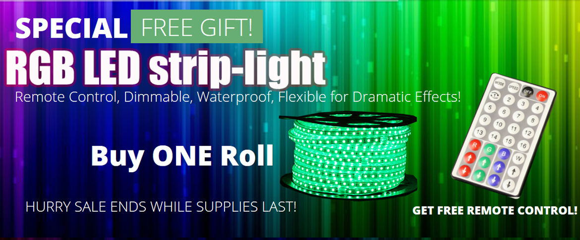 Bienvenidos al nuevo sitio web de wideloyal special promotion buy one roll of rgb strip light and receive a free remote control aloadofball Images